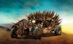 Un aperçu de quelques voitures déjantées que vous verrez à partir du 15 mai dans le film Mad Max: Fury Road et qui ont été conçues par Colin Gibson.