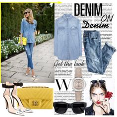 Untitled #65 Spring Trends, Calvin Klein Jeans, Acne Studios, Burberry, J Crew, Shoe Bag, Denim, Polyvore, Stuff To Buy