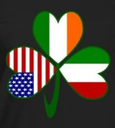 23a583db Fun image shows a shamrock with a flag in every leaf, One each for Italy,  United States of America, and Ireland. Great for celebrating all your  heritages at ...