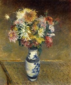 Chrysanthemums in a Vase, Gustave Caillebotte 1893