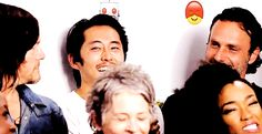 I don't know what Norman said, but Andy's and Sonequa's reactions are totally different. Lol!