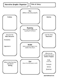 Narrative Writing Graphic Organizer Planning Page