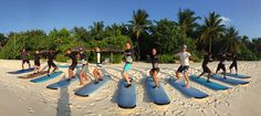 Can anyone think of a better place to learn to surf? #KudaHuraa @fourseasons #maldives #surf #learntosurf #surfschool
