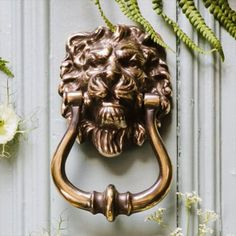 Brass Lion Door Knocker - Grrr! http://www.priorsrec.co.uk/lions-head-brass-door-knocker-/p-3-24-25-101