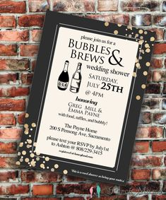 Bubbles & Brews Bridal Shower by PerchMama on Etsy