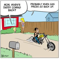 On The Biker Side Cartoon - January 2013