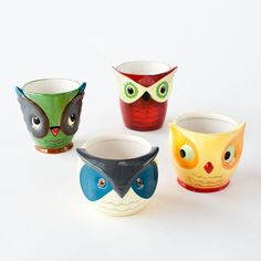 Owl Ceramic Cups (got these for Ella's room to hold her jewelery, you know the plastic princess stuff worth 0)