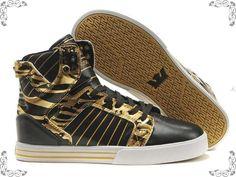 Supra Muska Skytop Black Gold Shoes