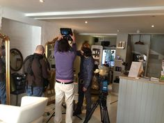 Exciting day with BBC World filming in the salon