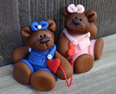 Fondant Bear Heartstrings | Satin Ice