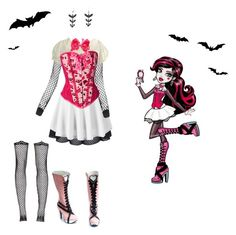"""""""Draculaura"""" by dead-head-dolly ❤ liked on Polyvore featuring Bohemian Society, Forever 21 and Betsey Johnson"""