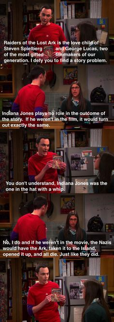 Sheldon's face. --  Even better when he tried to find plot holes in pride and prejudice and failed!! Because Jane is perfect :)
