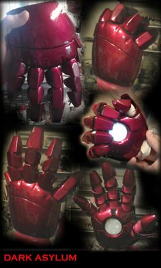 Iron Man Hands & Other Pepakura Projects