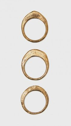 CLOSER X WWAKE Stack Ring Set in Bronze | The Dreslyn