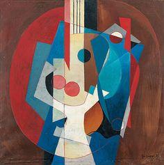 Leo Leuppi (Swiss, 28. Juni 1893 in Zürich; † 24. August 1972 in Zürich)  Composition with Guitar 1931