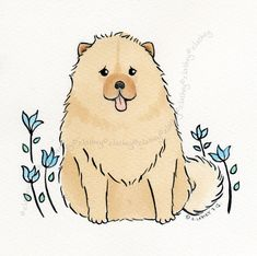Chow Chow Puppy Dog by AmbleAndSing