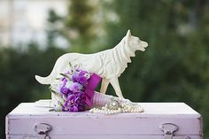 Photography of flowers, flower decorations, bouquets, wedding bouquets, wedding, pearls, bride, sweet pea, pink, dog, sculpture