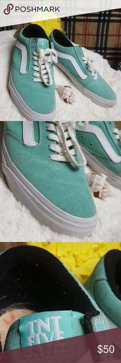 de2a044aac27 Vans OTW Turquoise   WH Suede Skater Shoe sz 10