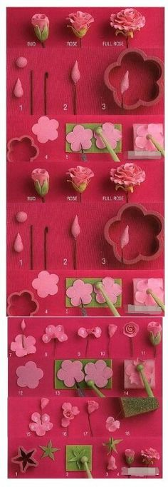 how to make flower fondant