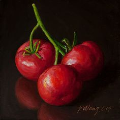 Wang Fine Art: tomatoes a painting a day small work of art for ki...