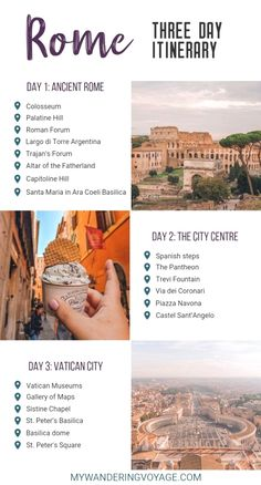 Visit Rome, Italy – the eternal city – and visit some of the most beautiful and historical sites in just three days. Here are the things to do in Rome in three days. Europe Destinations, Best Places To Travel, Cool Places To Visit, Travel Things, Tipping In Italy, 3 Days In Rome, Rome Attractions, Rome Itinerary, Italy Travel Tips