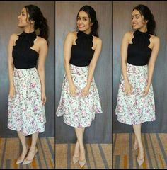 Actress Shraddha Kapoor wearing brand Cover Story for 'Half Girlfriend' promotions in Kolkata