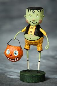 Lori Mitchell Halloween Little Frankie Stein. Available at TheHolidayBarn.com Frankenstien Figurine.