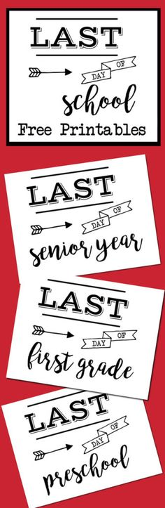 Last Day of School Sign Free Printable - Paper Trail Design Last Day of School Sign Free Printable poster. Preschool, Kindergarten, First Grade, through Senior year. Print this sign for last day of school pictures. End Of School Year, School Daze, School Fun, School Ideas, School Stuff, Free Poster Printables, Printable Designs, School Signs, Paper Trail