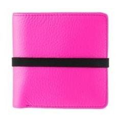 Marc By Marc Jacobs Pebble Leather Elastic Billfold Wallet Pink