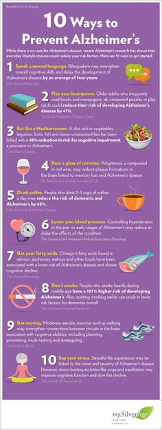 10 Ways To Prevent Alzheimers Infographic