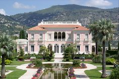 Villa Ephrussi de Rothschild is a French seaside palazzo constructed between 1905 and 1912 at Saint-Jean-Cap-Ferrat on the French Riviera by Baroness Béatrice de Rothschild in the Goût Rothschild. It was designed by the Belgian architect Aaron Provence, Saint Jean Cap Ferrat, Saint Martin Vesubie, Cagnes Sur Mer, Cap D Antibes, Juan Les Pins, Villefranche Sur Mer, Malibu Homes, London Apartment