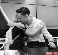 SDCC 2013: Tom Hiddleston  Director Alan Taylor sign at the Marvel booth  Photos by Judy Stephens  Nicole Ciaramella