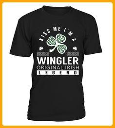 Kiss Me I am a WINGLER Original Irish Legend - Shirts für singles (*Partner-Link)
