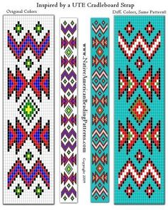 Discover thousands of images about native american beading patterns Native Beading Patterns, Beadwork Designs, Seed Bead Patterns, Weaving Patterns, Jewelry Patterns, Indian Beadwork, Native Beadwork, Native American Beadwork, Loom Bracelet Patterns