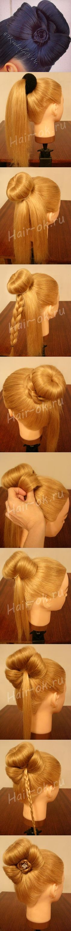 DIY Braided Bow Hairstyle | www.FabArtDIY.com LIKE Us on Facebook ==>…