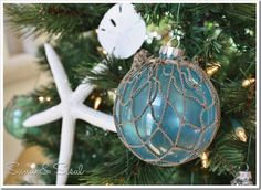 Glass Float Ornaments great for beach theme holiday!
