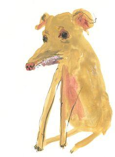 Phteven Dog / Tuna  Original gouache illustration by FayeMoorhouse