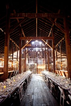 barn transformed, I live the idea of a concerted barn wedding venue. Id have my cowgirl boots on under my dress :)