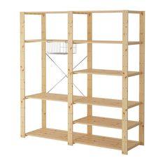 HEJNE 2 Elemente IKEA Die Kombination kann durch weitere Elemente und Böden ergänzt werden, wenn mehr Platz zum Unterbringen benötigt wird.