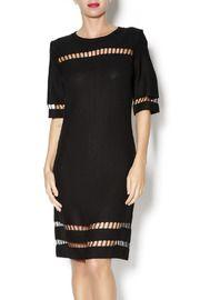 Black Knit Cutout Dress