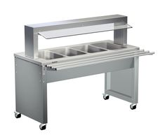GTARDO.DE:  Warmbuffet, 4xGN 1/1, beheizbar 30 bis 95°C, 3.8kW, inkl. Wärmebord Hustenschutz Tablettrutsche 4 070,00 €
