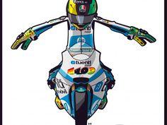 Pol Espargaró #MotoGP #Ilustración #Illustration #design #polespargaro #motor #racing