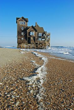Abandoned House by the Sea