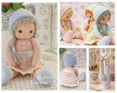 Pattern is available in both ENGLISH and DUTCH.  A little hat pattern to fit a 14 TEAROOM Doll.... (14 dolls can be found in our shop here... www.etsy.com/listing/194596190/dolls-from-the-tearoom-doll-toy-knitting)  The pattern includes the option to knit your doll hat as follows... 1.In the round and seamless 2.Flat on 2 straight knitting needles & seamed 3. A Stripy Hat (worked both ways) 4. A Crochet Flower 5. A Knitted Flower  Pattern also includes.... Details of all eq...