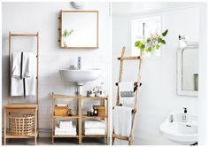 Inspirações para banheiro escandinavo.