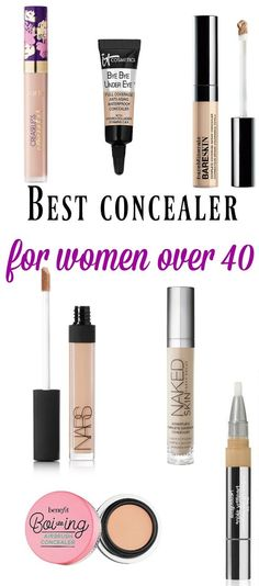 I have today for you the best concealer for women over 40 (or mature skin). Major concern of us grown-ass women? Probably: dry skin, fine or deep li… Waterproof Concealer, Best Concealer, Under Eye Concealer, Makeup Over 40, Beauty Hacks For Teens, Best Foundation, Bye Bye, Anti Aging Skin Care, Face Care
