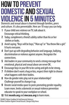 How To Prevent Domestic And Sexual Violence In 5 Minutes