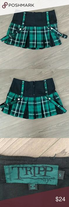 Tripp NYC Pleated Plaid Skirt S Matches Corset in my closet. Bundle for a special deal. Tripp nyc Skirts Mini