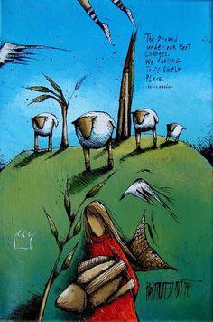 Artwork of Hanlie Kotze exhibited at Robertson Art Gallery. Original art of more than 60 top South African Artists - Since South African Artists, Angel Art, Art Tutorials, Surrealism, Photo Art, Original Art, Art Gallery, Blanket Patterns, Oil Pastels