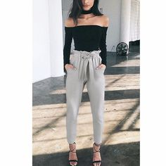 Casual and elegant, these comfortable trouser pants can be dressed up or down depending on the occasion. Material: Polyester *Product ships internationally. Please review our shipping policy for proce